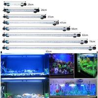 White Bule Submersible Aquarium Light Fish Tank Lamp 7-23inch IP67 Waterproof