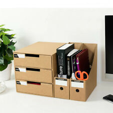 5Pc Hard Paper File Table Storage Box Paper Office Study Desktop Organizer
