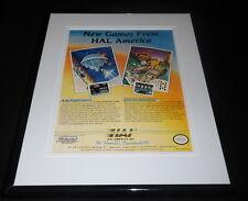 Air Fortress HAL 1989 NES Nintendo 11x14 Framed ORIGINAL Vintage Advertisement