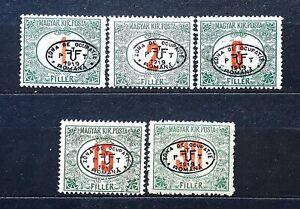 Hungary stamps Romanian occupation 1919 DEBRECEN I.**/* - RED PORTO - CV= $247