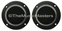 """Pair 4"""" inch Flush Mount Round Super Horn TWEETER Speakers Car Audio Home Stereo"""