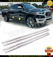 "FOR 2019-20 RAM 1500 CREW 1/18"" WIDE 4PCS STICK ON SIDE MOLDING TRIM SET"