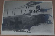 WWI - A REAL FRAMED BIG PHOTO OF A GERMAN PILOT IN THE AIRPLANE