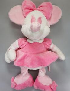 * DISNEY STORE Minnie Mouse Pink & White Plush RARE (A)
