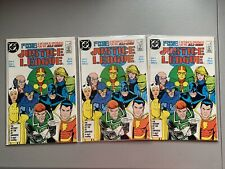 JUSTICE LEAGUE #1 ==> NM+ 1ST MAXWELL LORD DC COMICS 1987 (LOT OF 3)
