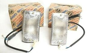 Lights Fiat 124 Special T Pair siem Original Lights With Plastic Clear