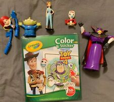 Toy Story Pvc Figures Lot Of 6 & NEW Crayola Color & Stick 4 FREE Cup & Tsum