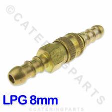 LPG QUICK RELEASE COUPLING 10mm FULHAM NOZZLE TO ACCEPT 8MM BORE ORANGE GAS HOSE