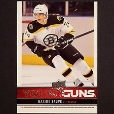 MAXIME SAUVE   RC  Young Guns UD  2012/13  #203  Boston Bruins YG Rookie single