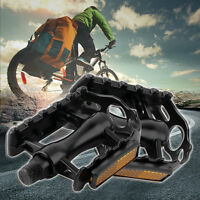 1 Pair Aluminium Alloy Mountain Road Bike Bicycle Cycling 9/16IN Pedals Flat SV