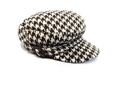 Rue 21 Women's Hat Brown & White Check Side Buckle One Size Fashion