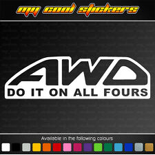 AWD Do It On All Fours Vinyl Sticker Decal, 4X4 JDM Ute Car Subaru racing