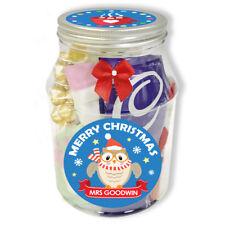 Personalised Christmas Hot Chocolate Jar OWL DESIGN, teacher gift