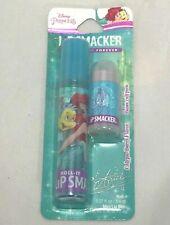Lip Smacker Disney Little Mermaid Calypso Berry Mini Lip Balm & Roll It Duo New