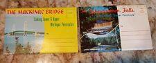 L. L. Cook Co. Booklets postcards of Mackinac Bridge & Jahquamenon Fall's 1950's