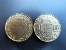 Pièce monnaie MONACO 20 Francs 1951 RAINIER III bon état