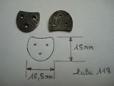fers à chaussure LULU 118 (paire) 16,5 mm par 15 mm et semences 10 mm