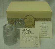 Lenox Heiress Candlestick Votive Pair Set Glass Nib Candle Holder New