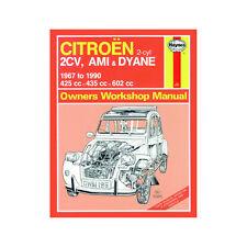 Citroen 2CV Ami Dyane 425 435 602cc Petrol 67-90 (up to H Reg) Haynes Manual
