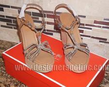 $140 New Coach Sz 9 Georgiana Pr. Python Wedge High Heel Platform Strap Shoes