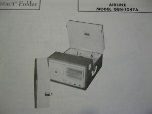 AIRLINE GEN-1047A PHONOGRAPH RADIO PHOTOFACT