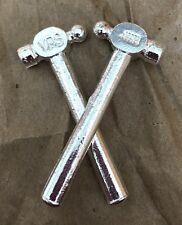 1oz Hand Poured 999 Silver Bullion Bar 4D Ball Peen Hammer by YPS