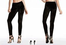 NWT GUESS Velvet Legging Black XS Stretch fit crushed velvet legging
