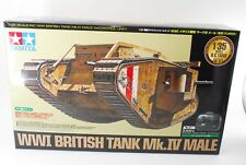 Tamiya 48214 R/C Wwi British Tank Mk.Iv Male W/ Control Unit 1/35 From Japan New