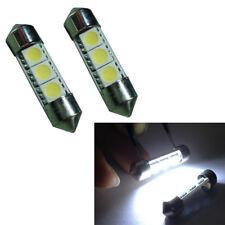 2* Car Auto Sun Visor Xenon 3-SMD White 6641 LED Bulbs Vanity Mirror Fuse Light