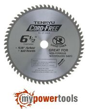 "TENRYU CF-16560A  Aluminum Cutting 6-1/2"" 60T Saw Blade with 5/8"" Arbor - XSS02Z"