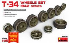 Miniart 35236 - 1/35 T-34 Wheels Set. 1942 Series Plastic Model Kit