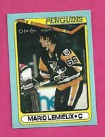 RARE 1990-91 OPC # G PENGUINS MARIO LEMIEUX  BOX BOTTOM CARD (INV# D2760)