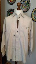 VINTAGE Trachtenhemd Gr 41 (L) 50% LEINEN GEBRAUCHT