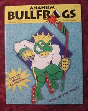 ANAHEIM BULLFROGS Hockey Yearbook 1994 Official Program