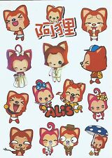 "Sticker Decal Aufkleber Set (039M) ""Anime Mix""- Laptop, Stickerbomb"