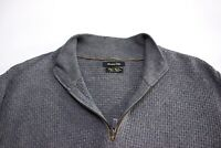 Massimo Dutti Herren Baumwolle Kaschmir Reißverschluss Pullover Größe L ARZ78