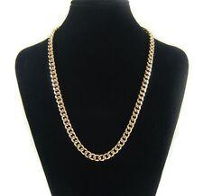 Cadena de oro Collar cadena Hombre 51cm cadena Chapado en oro 18K bañado en oro