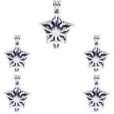 5PCS-L293 Beads Cage Star Diffuser Charm Locket Light Silver