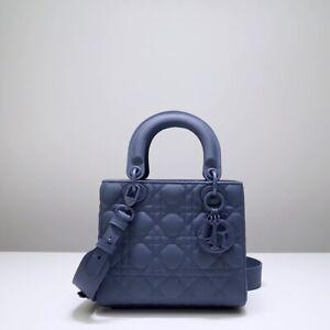 christian dior Lady Bag - ABCDior Bag Denim Blue Ultramatte Cannage Calfskin