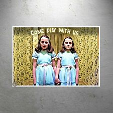 The Shining Movie Twins/Girls - Come Play With Us Poster Print | Redrum Red Rum