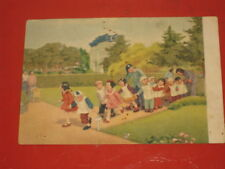 1950's Chidren's Cheerful children Girl Chinese Unposted postcard Soviet Russian