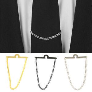 Men's Jewelry Ornament Men Necktie Tie Chain Wedding Business 3 Colors Best Gift