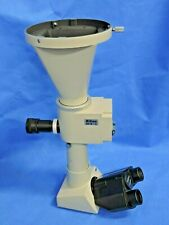 Nikon Trinocular Optiphot Microscope Head Afx Ii Camera Shutter Adapter Eyepiece