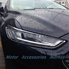 New Chrome Front Light Cover Trim For Ford Fusion 2013 2014 2015 2016