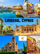 LIMASSOL,CYPRUS - SOUVENIR NOVELTY FRIDGE MAGNET, SIGHTS / NEW / FLAG / GIFTS