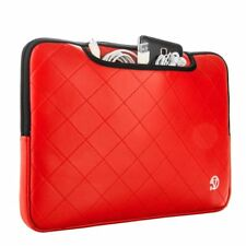 """Red 13 """" Laptop Carrying Bag Messenger Backpack Briefcase Sleeve For Macbook Pro"""