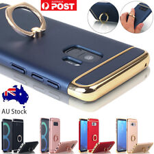 Samsung Galaxy S8 S9+ Note8 Hybrid Shockproof Case Metal Ring Holder Stand Cover