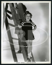 1935 Original Fox Film Portrait Photo - Shirley Temple Posing on Ladder