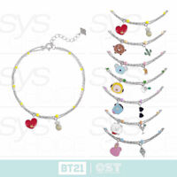 BTS BT21 Official Authentic Goods Silver Bracelet Ver3 by OST + Tracking Number