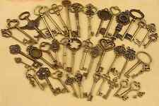 New 17 Pcs Bronze Vintage Keys STEAMPUNK CYBERPUNNK COGS GEARS DIY JEWELRY CRAFT